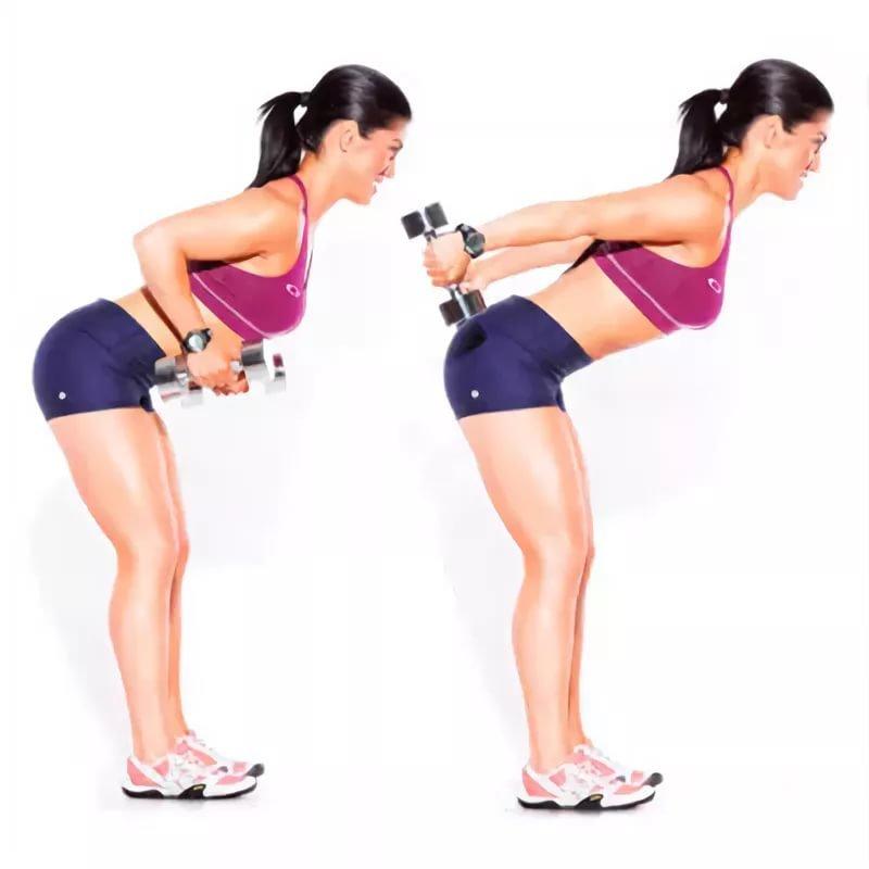 Как похудеть с гантелями в картинках