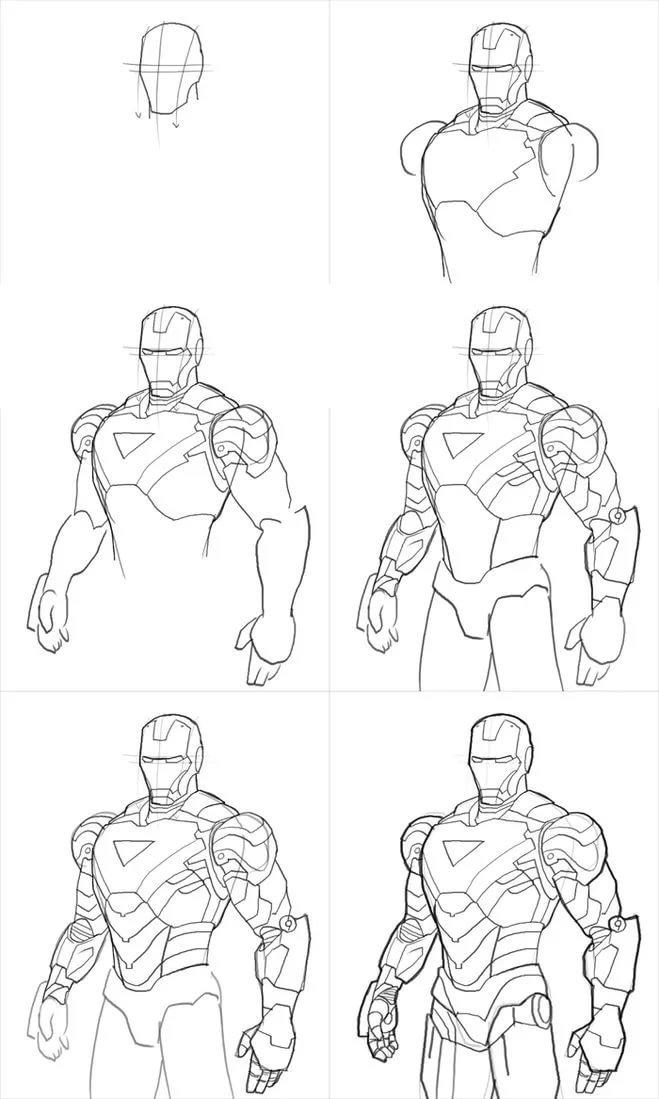 жизни все картинки супергероев карандашом поэтапно фото