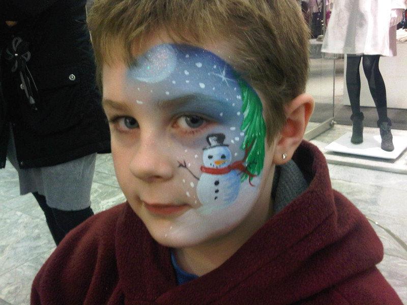 аквагрим снеговик фото всегда