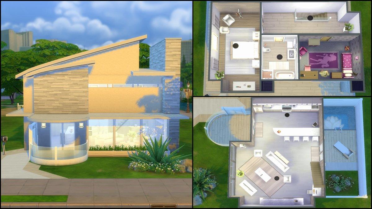 Modern house plans sims 4 modern house sims 4 house plans b