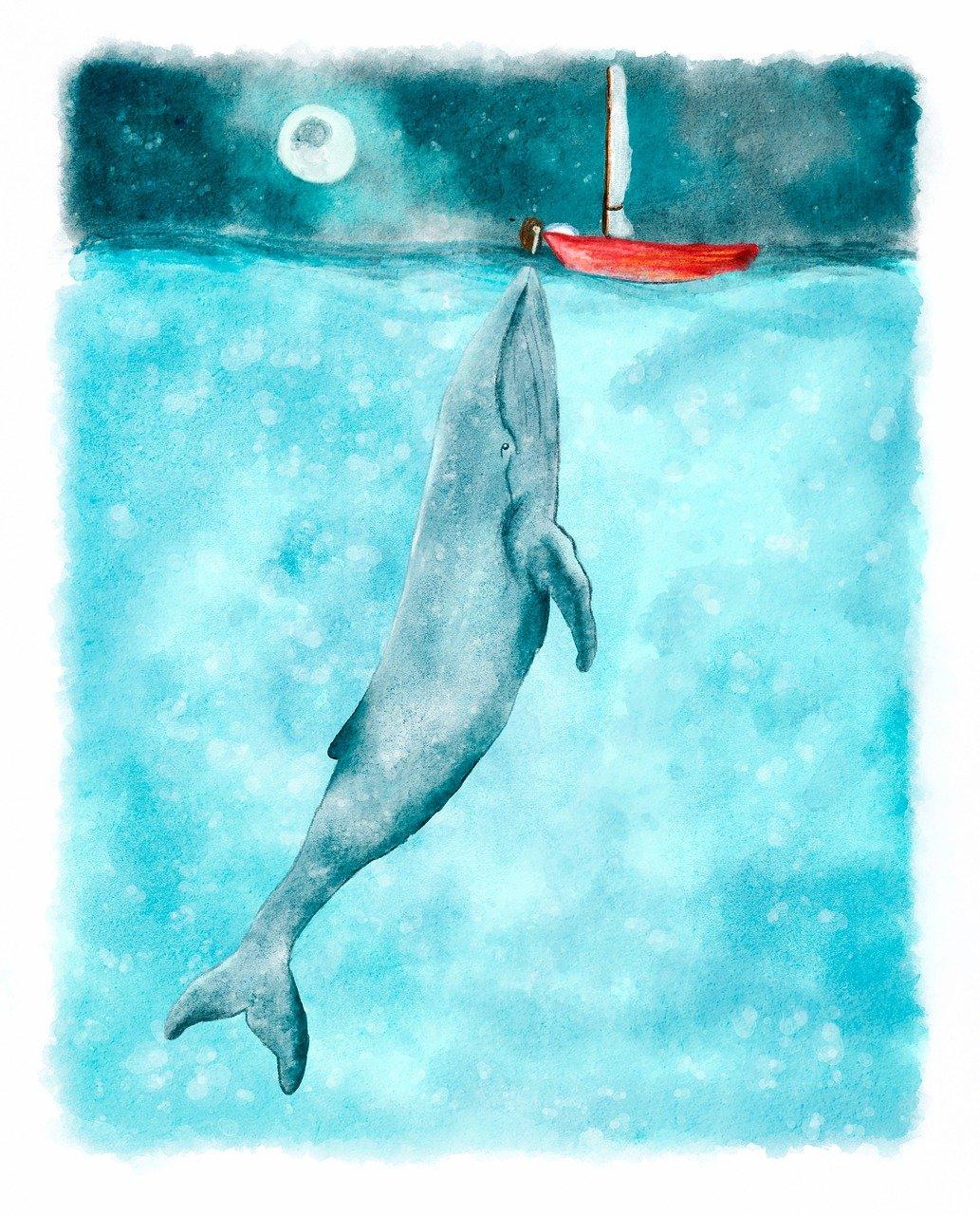Открытка это синий кит, которые поймут только