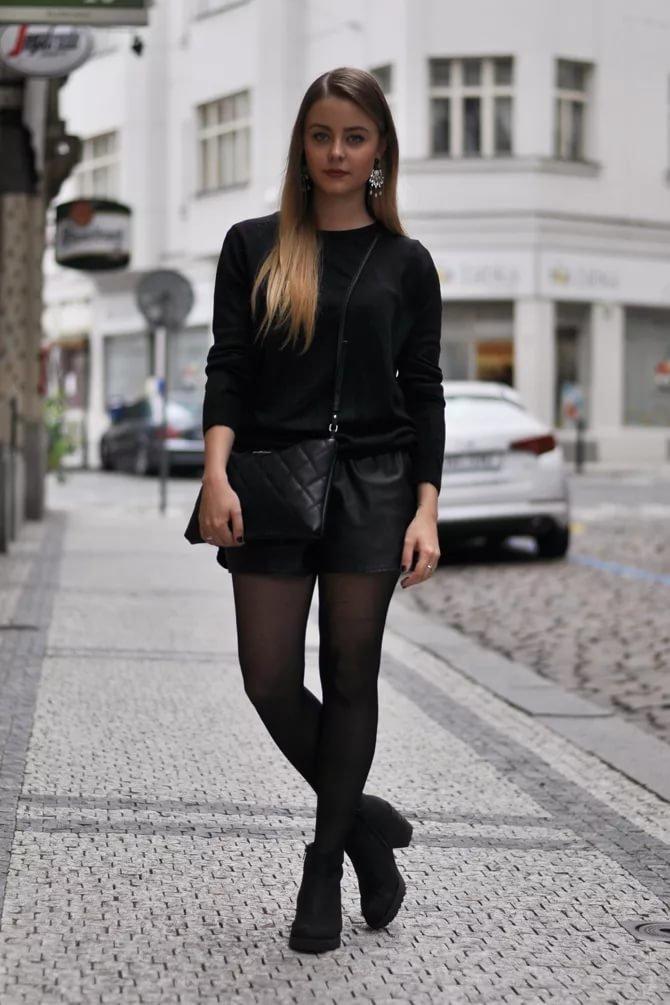 черные шорты женские с чем носить фото можно