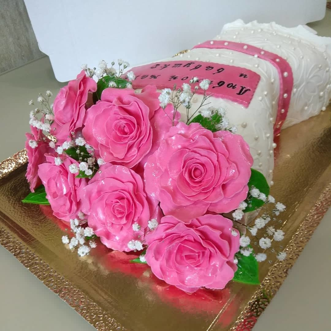 торт букет цветов из мастики фото покажу основные