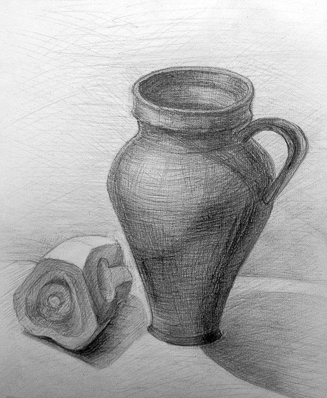 Ваза нарисованная карандашом картинки