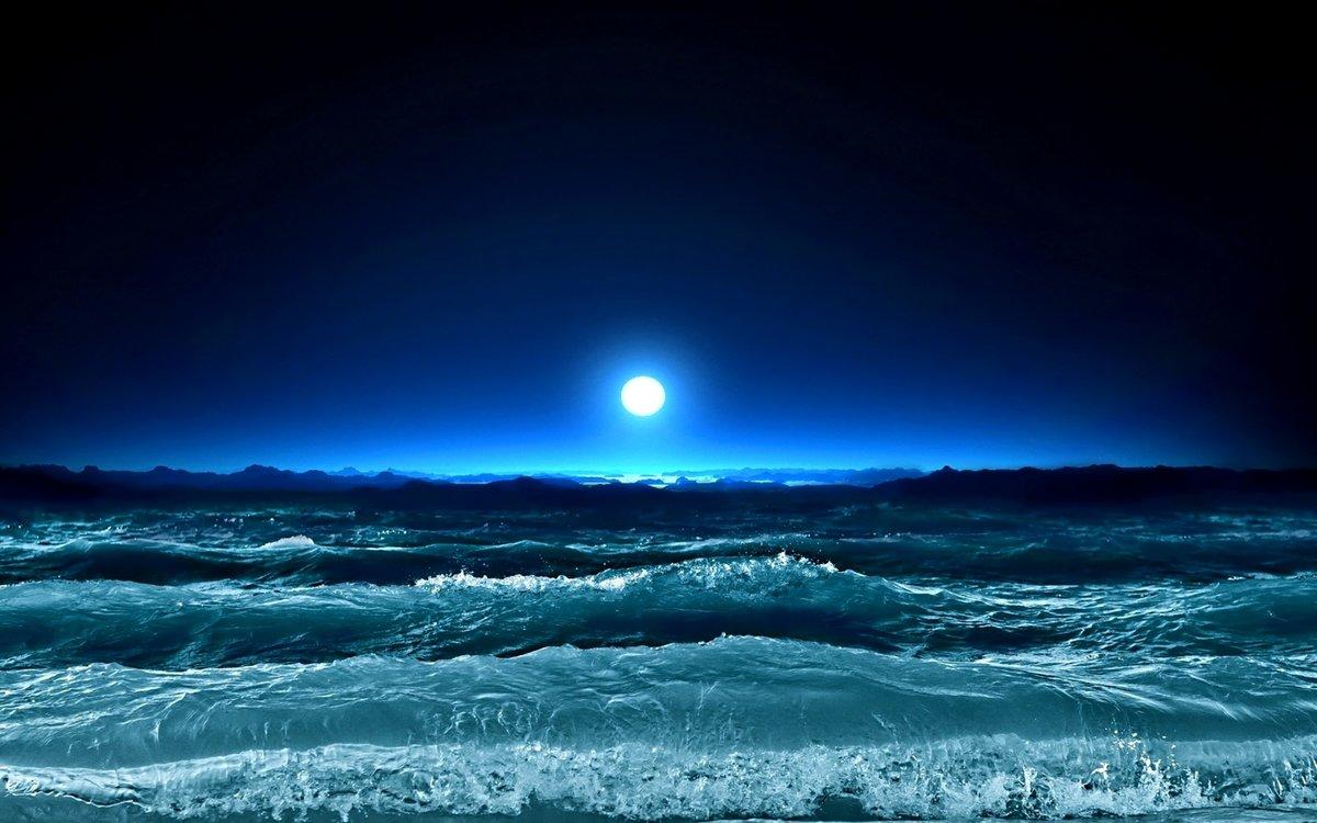 Ночное море в картинках