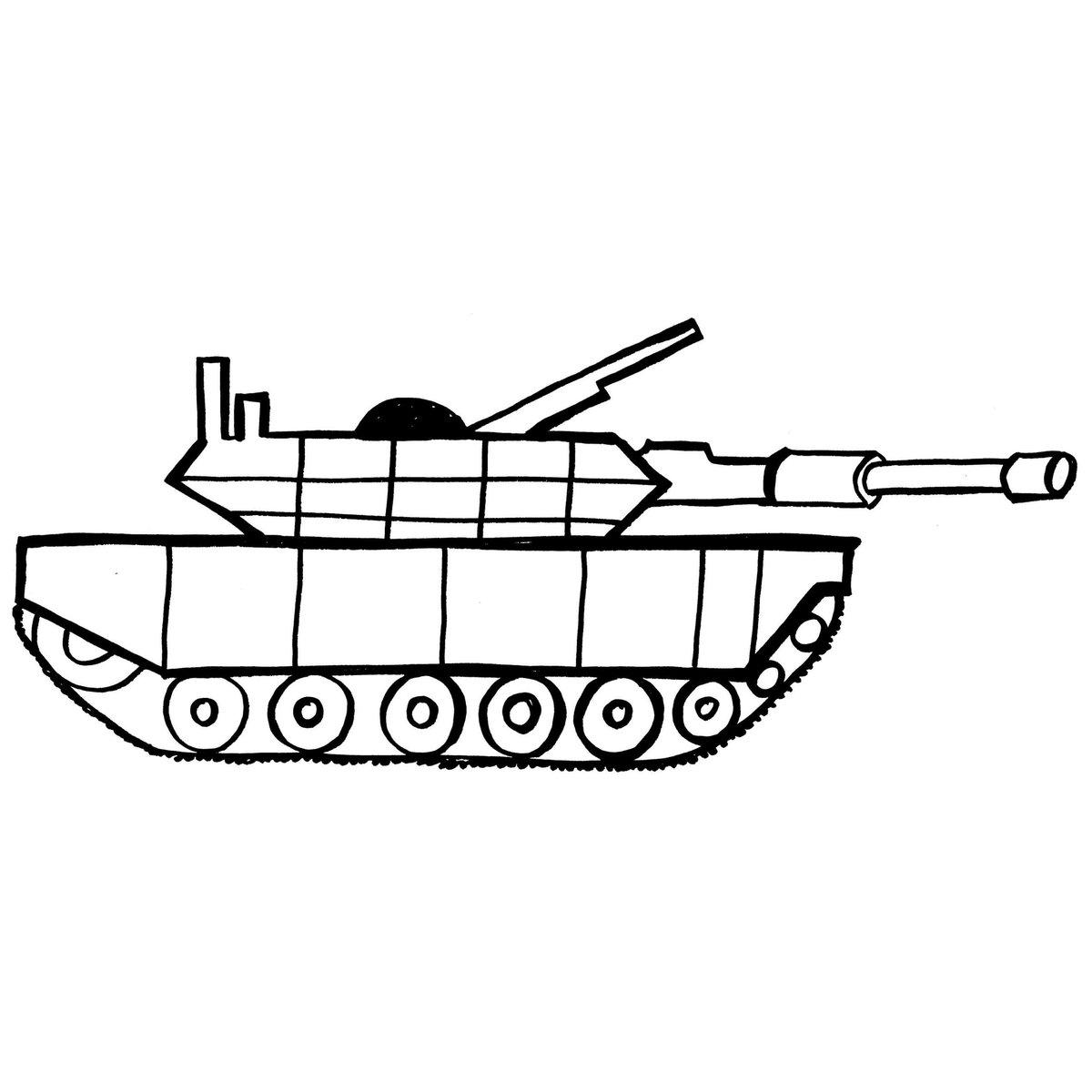 Картинки танков для срисовки легкие
