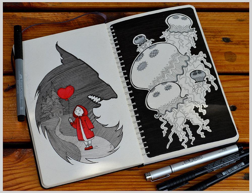 Курт кобейн рисунки маркером качестве