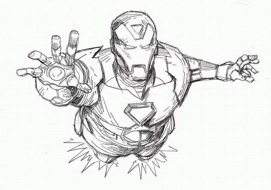 Картинки марвел герои карандашом мега кулак