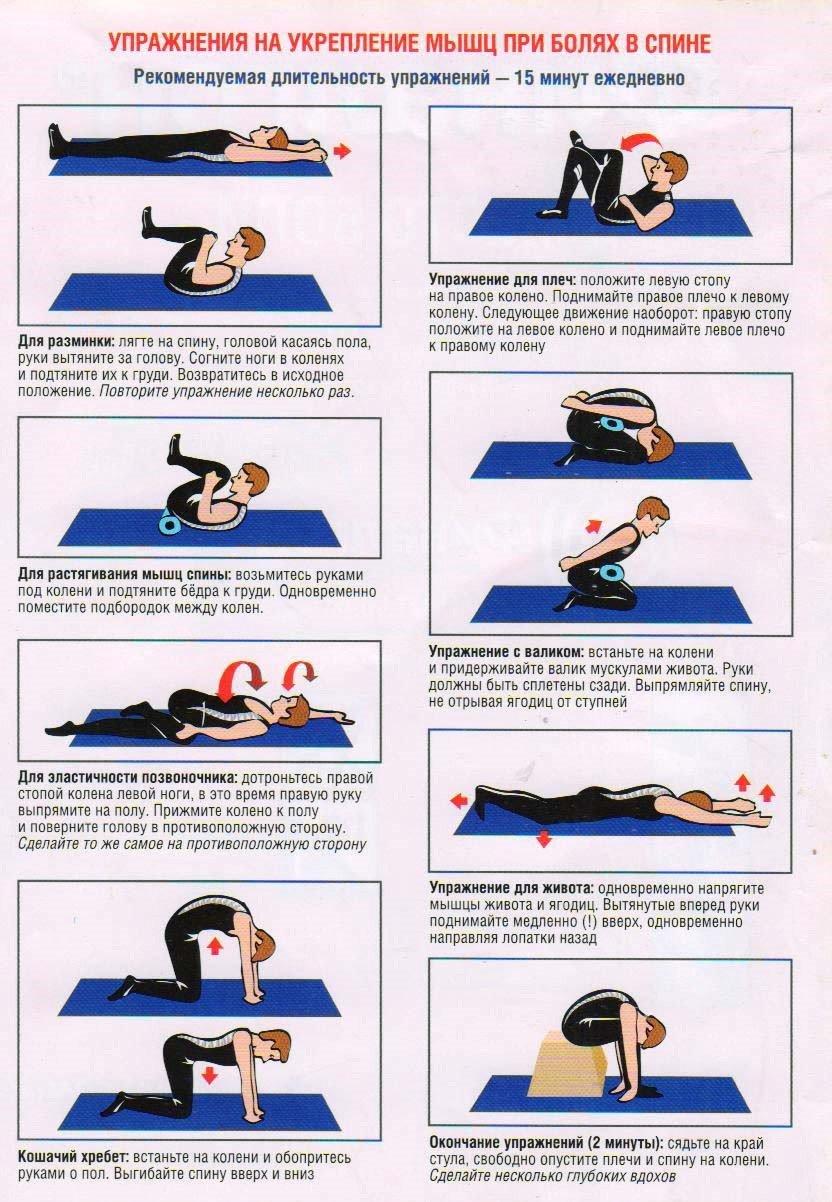 упражнения для укрепление мышц в пояснице временем таня