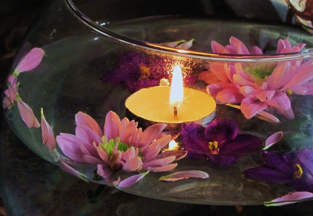 суперпродукты картинки со свечами с цветами разнообразным