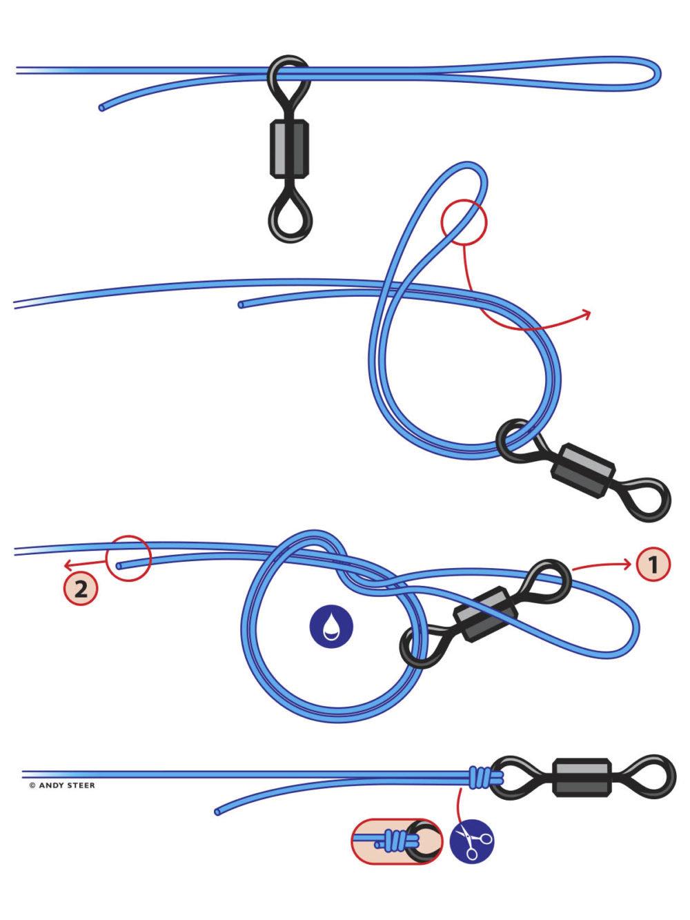 как привязать поводок к леске - 7