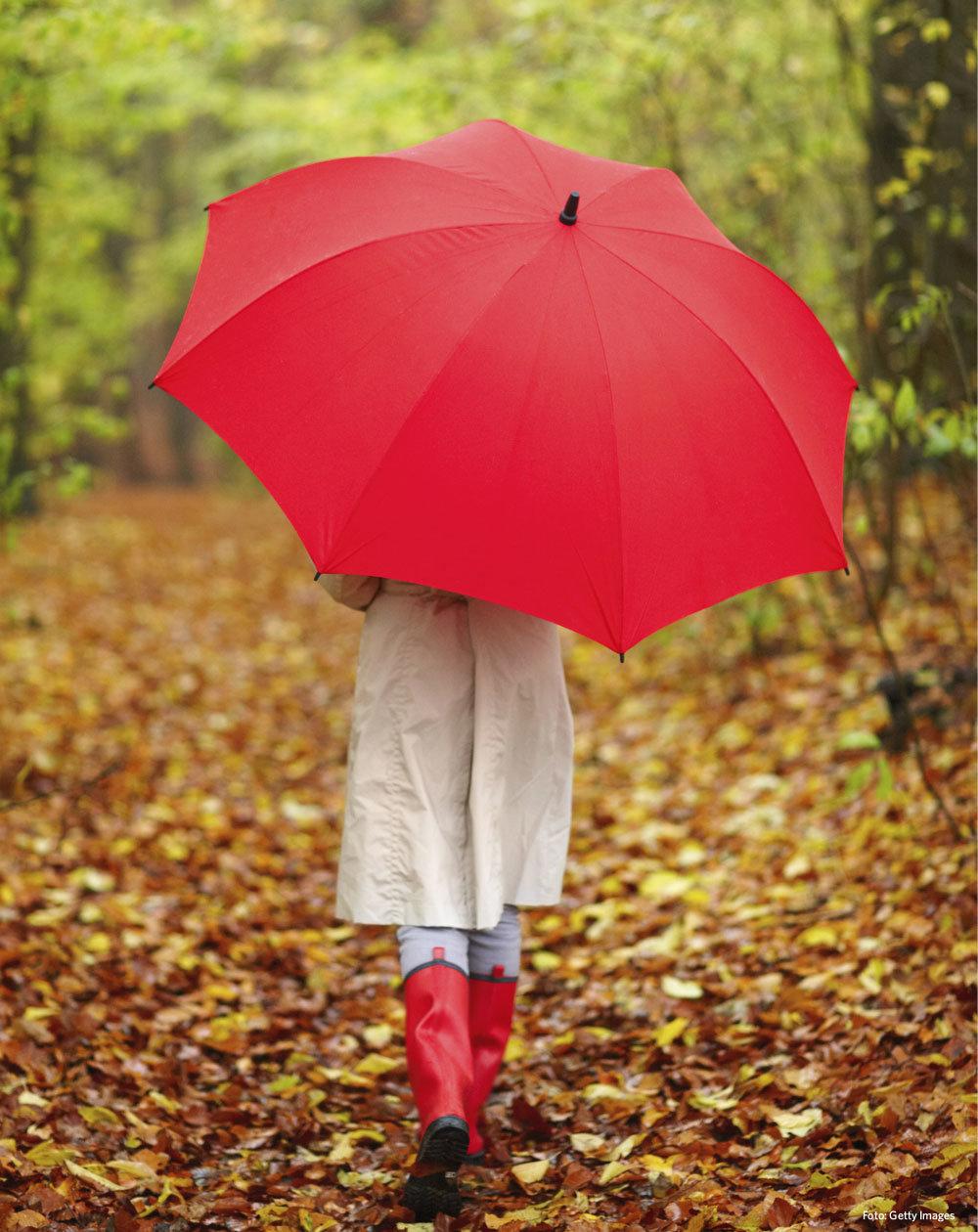 Открытку, картинки девушка с зонтиком в осеннем парке
