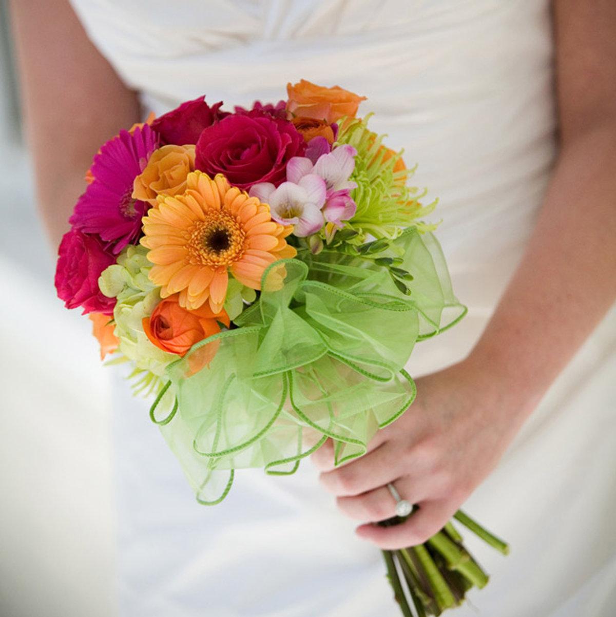 Букет невесты разноцветные герберы фото, букеты фото букет