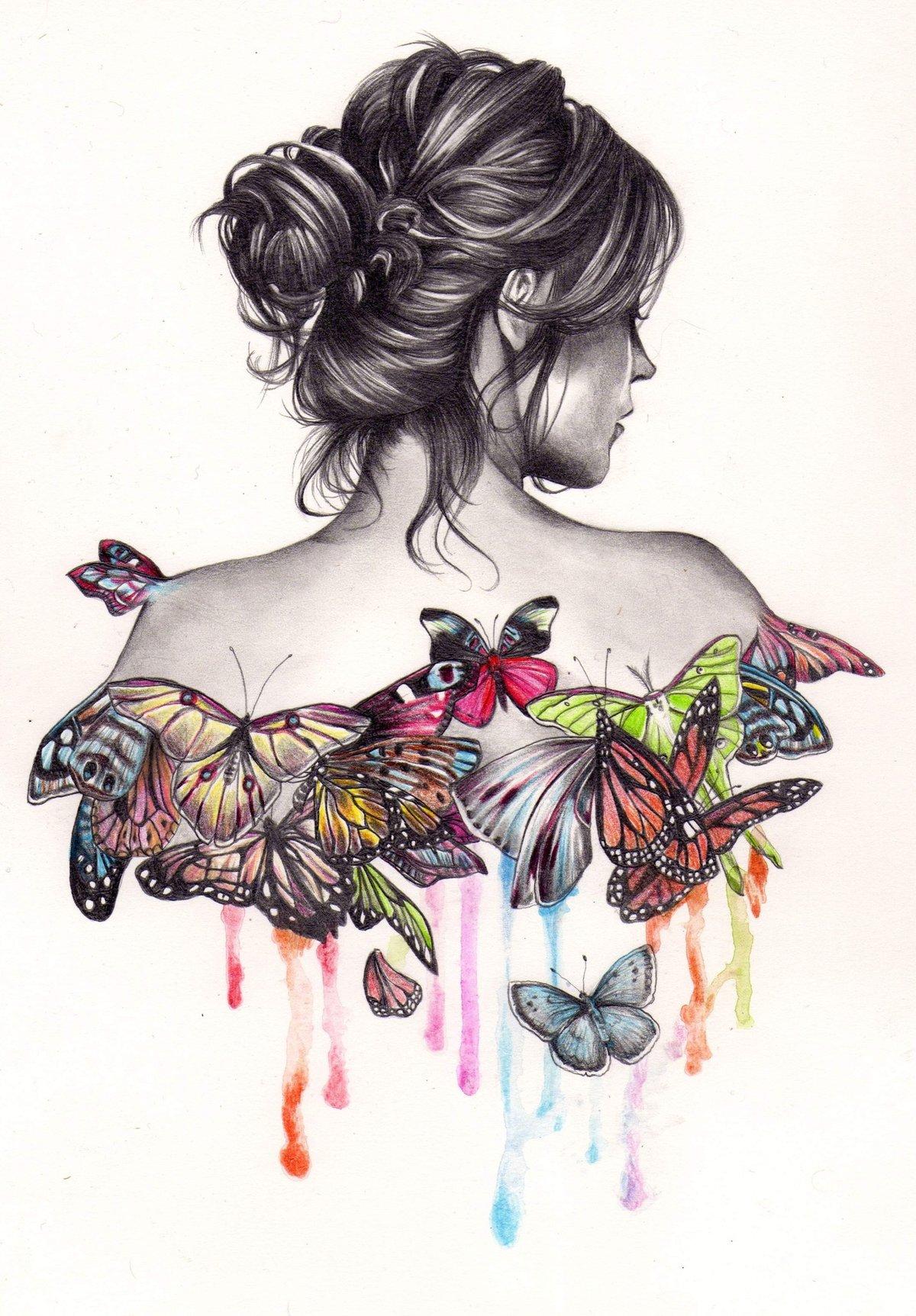 Первое сентября, картинка девушки рисунок