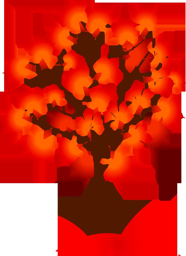 Осеннее дерево картинки для детей нарисованные