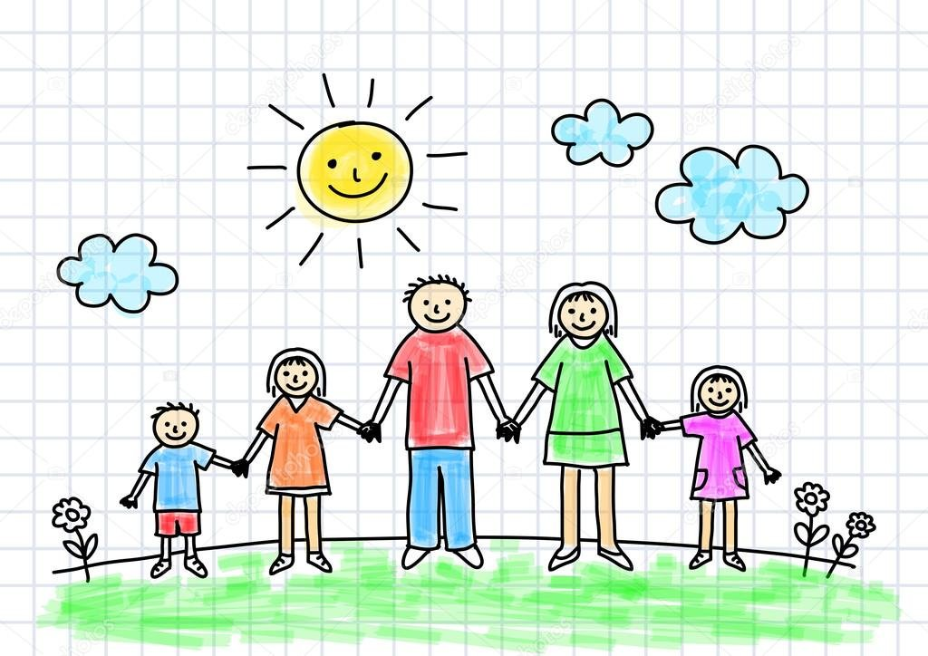 Картинки рисовать семья