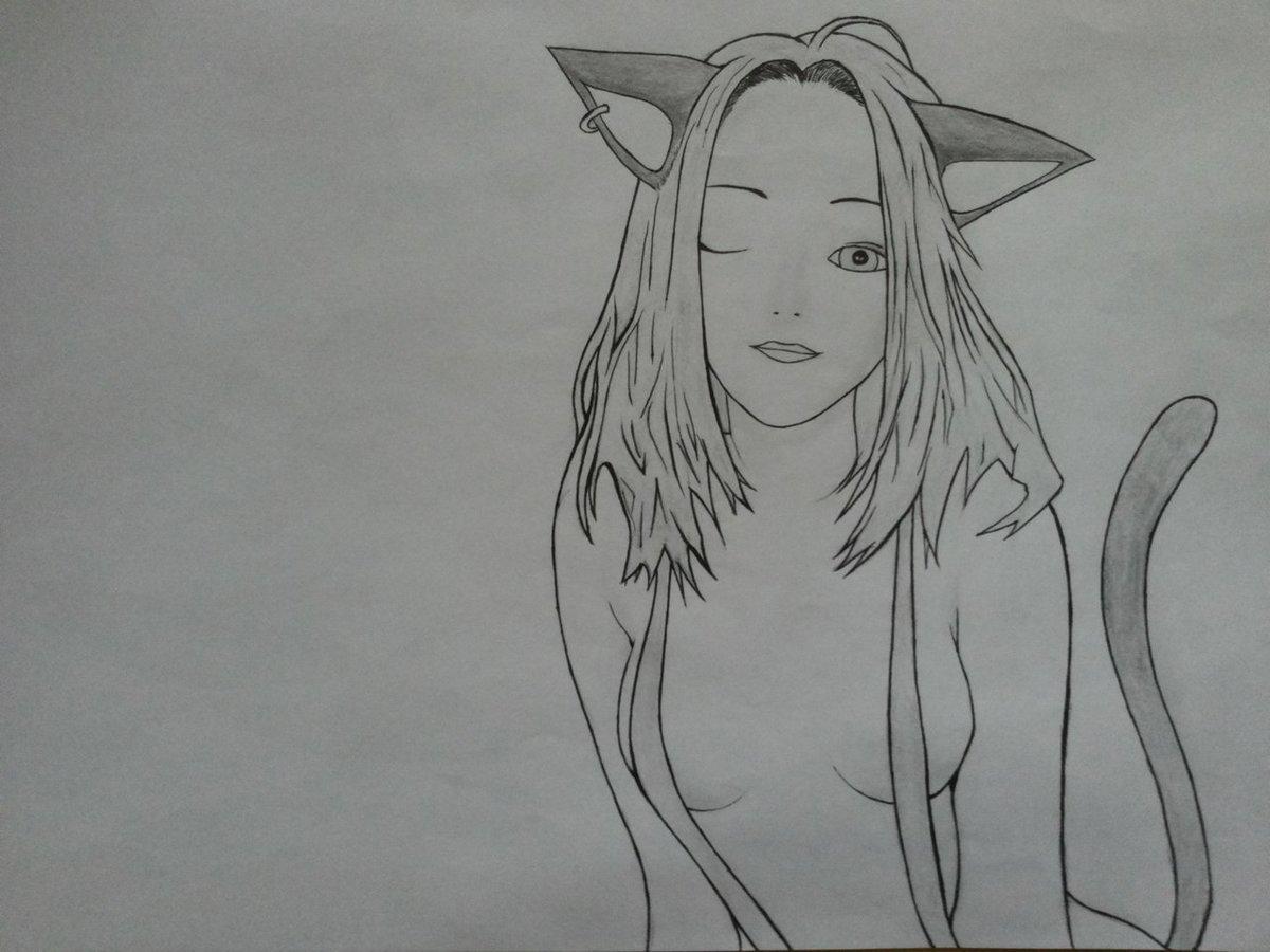 Картинки, прикольные картинки нарисованные простым карандашом девушки