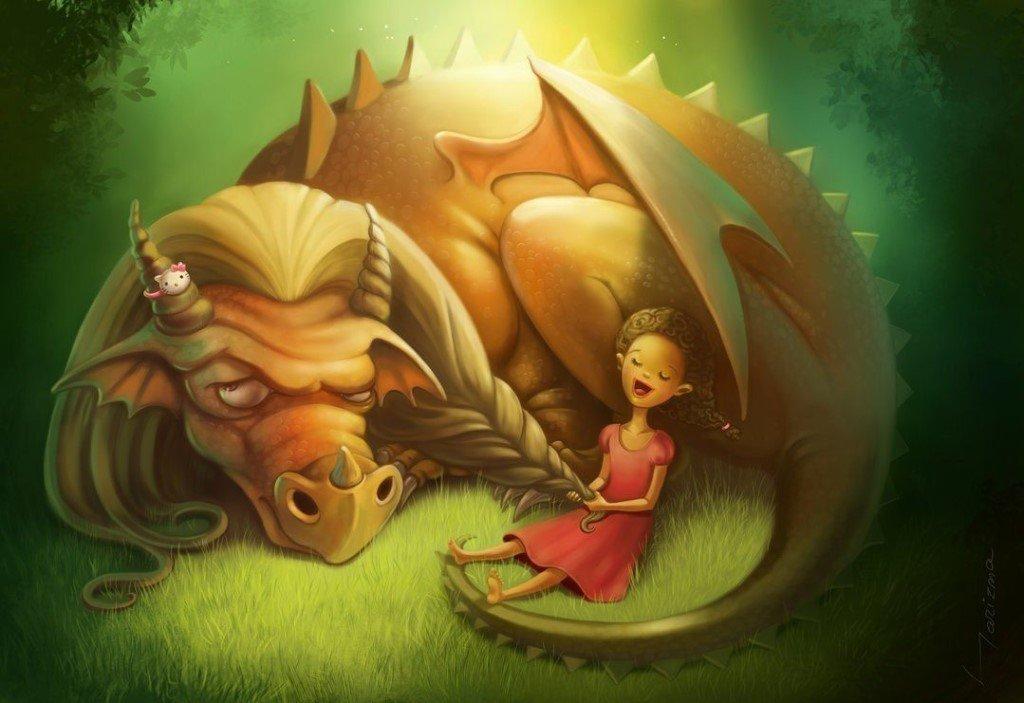 Днем, картинки маленьких смешных дракончиков