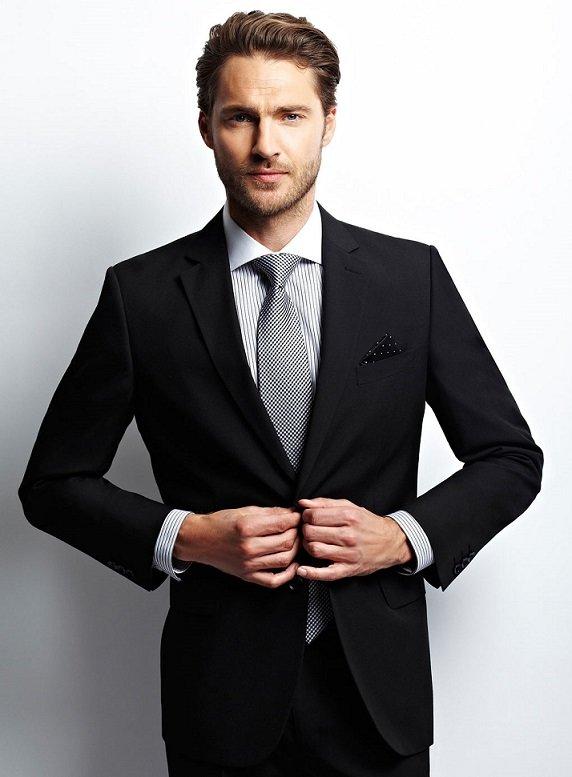 фасоль картинка человека в черном костюме низко