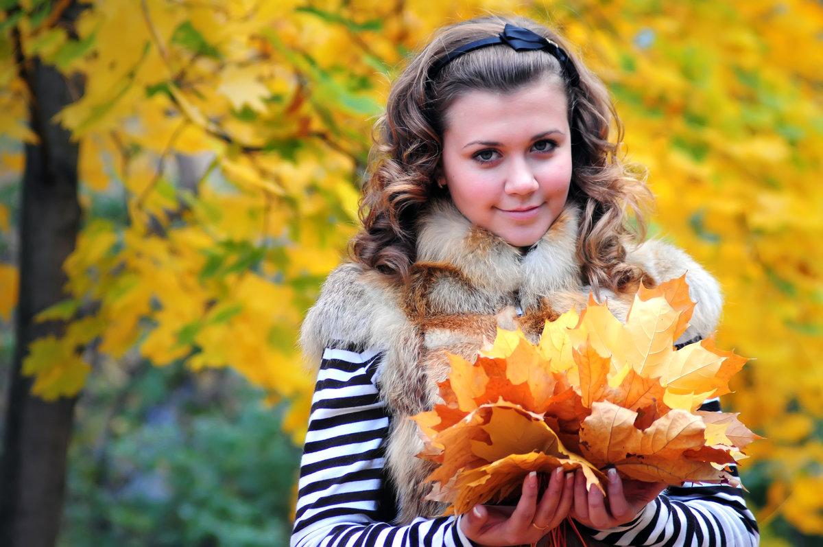 Девушка осень картинка фото