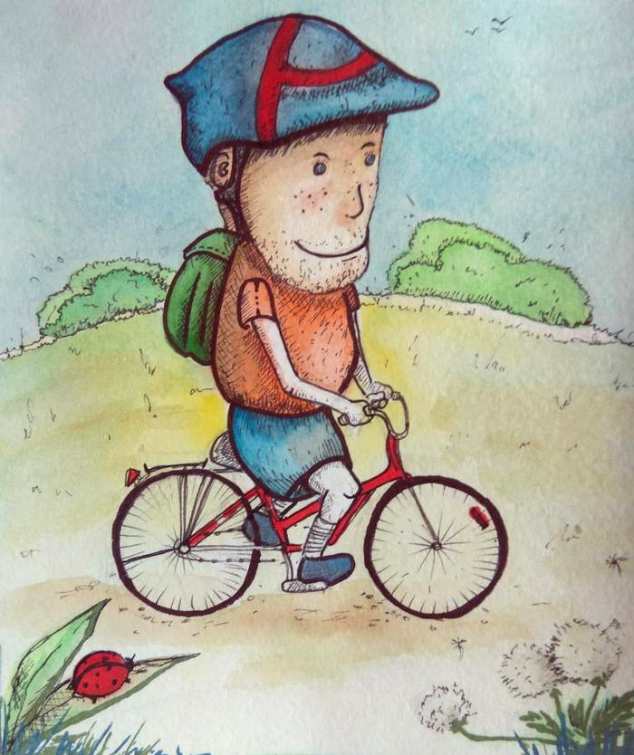Спасибо милая, картинка велосипеда прикольная