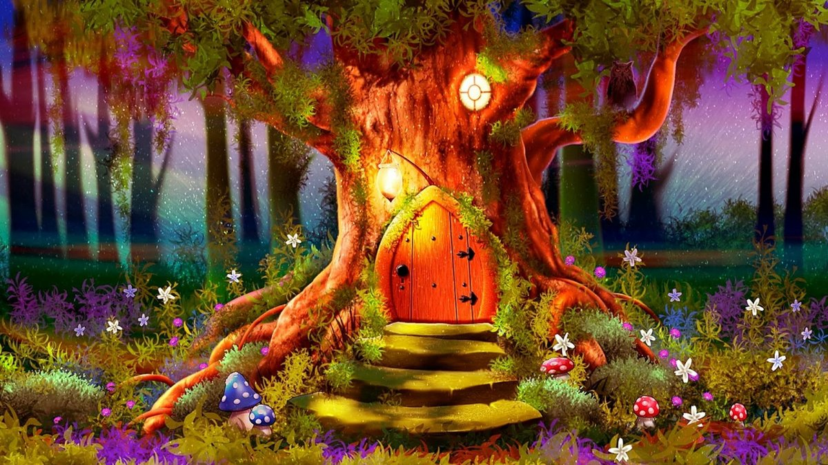 Сказочный лес картинки нарисованные, открытки девушке