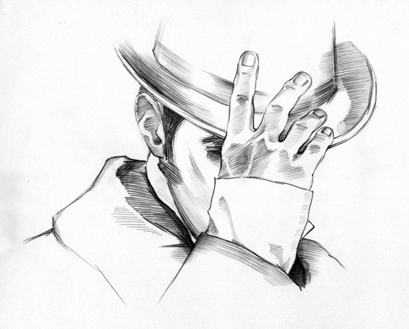 заказ человек в шляпе картинки карандашом они есть вконтакте