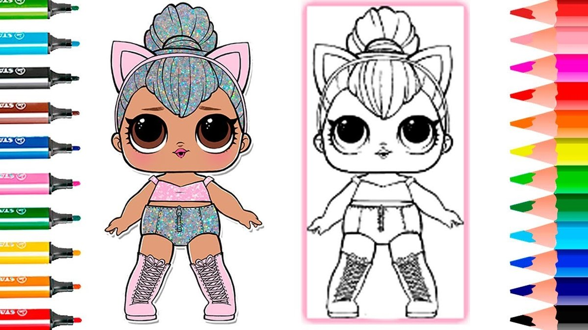 Lol Surprise Doll Series 2 How To Draw Kitty Queen Coloring Card