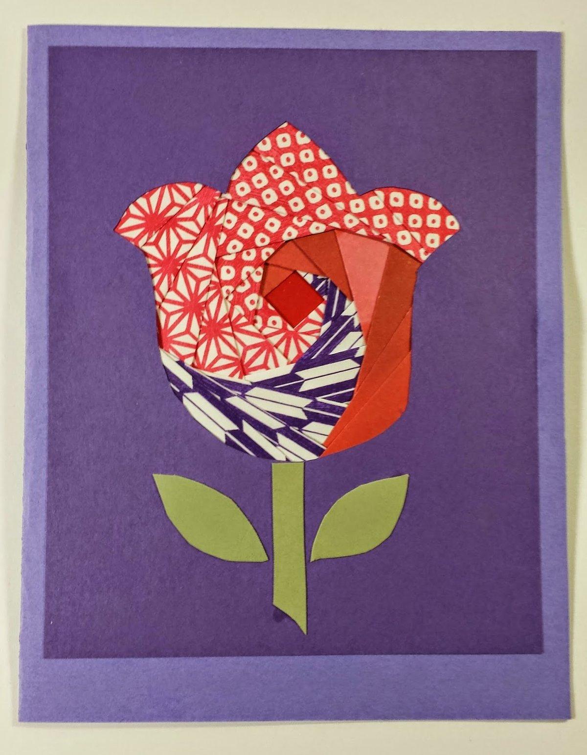 открытка маме в стиле айрис фолдинг номере сначала было