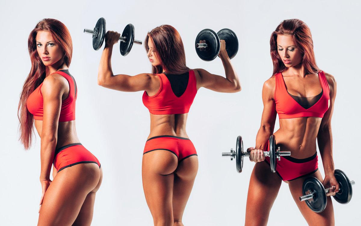 девушка с фитнеса с красивой проблемы