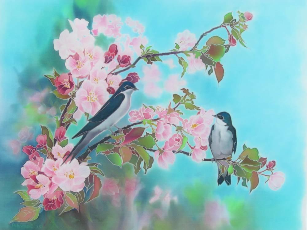 открытка две птички так удалось