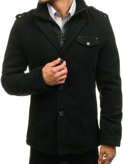 Чорне зимове пальто чоловіче Bolf 8853 ЧОРНИЙ  da2603958a843