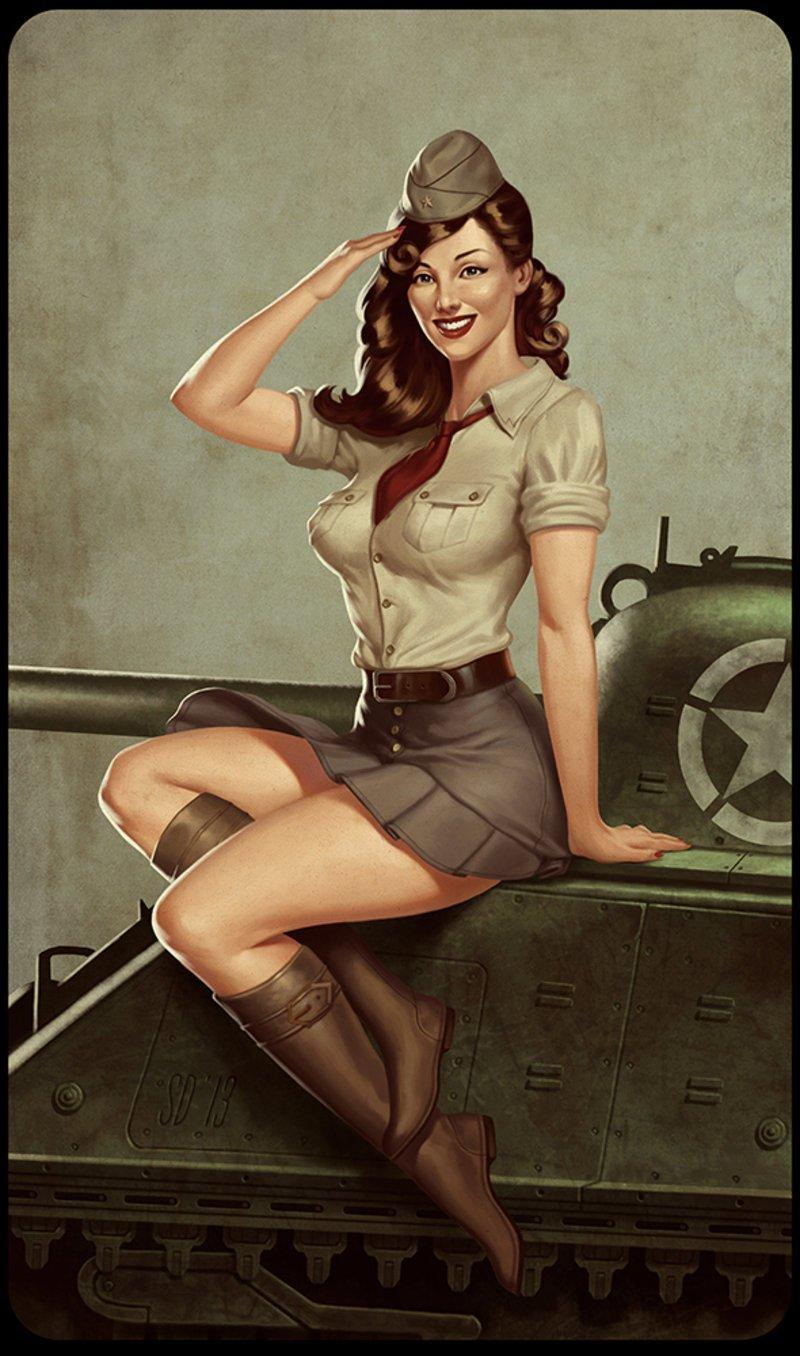 Открытка женщина военная, открытки днем