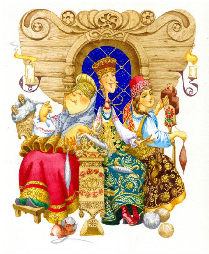 Картинки герои сказок пушкина, фото онлайн открытку