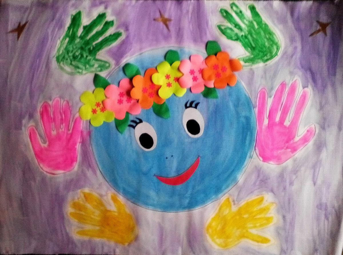 Рисунок к дню защиты детей детство, маме