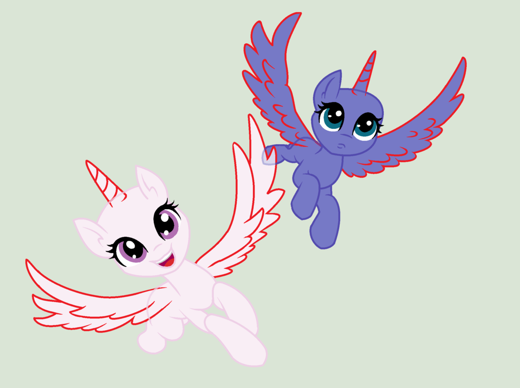 mlp princess alicorn base by lunaapple on deviantart card from