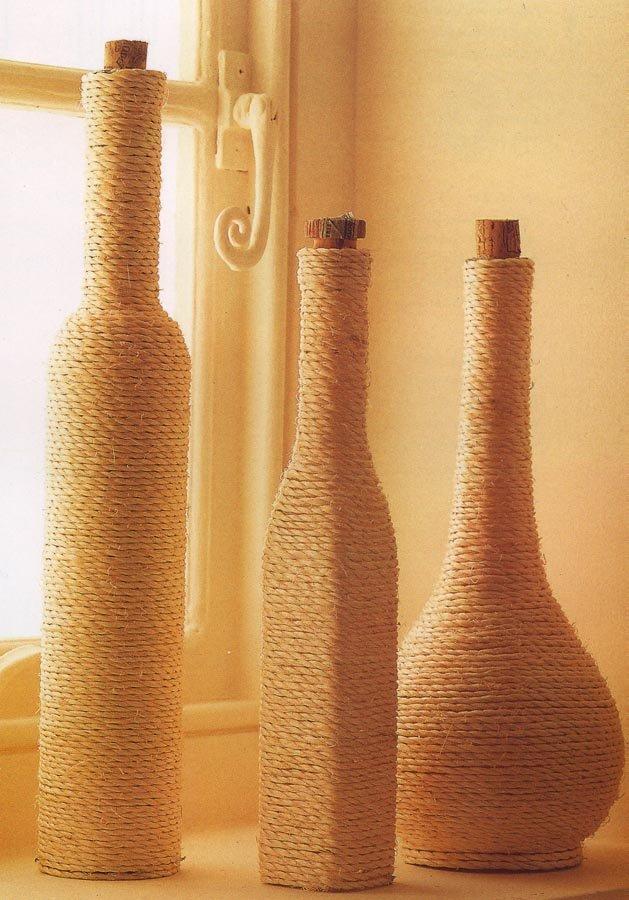 Оформление бутылки веревкой картинки
