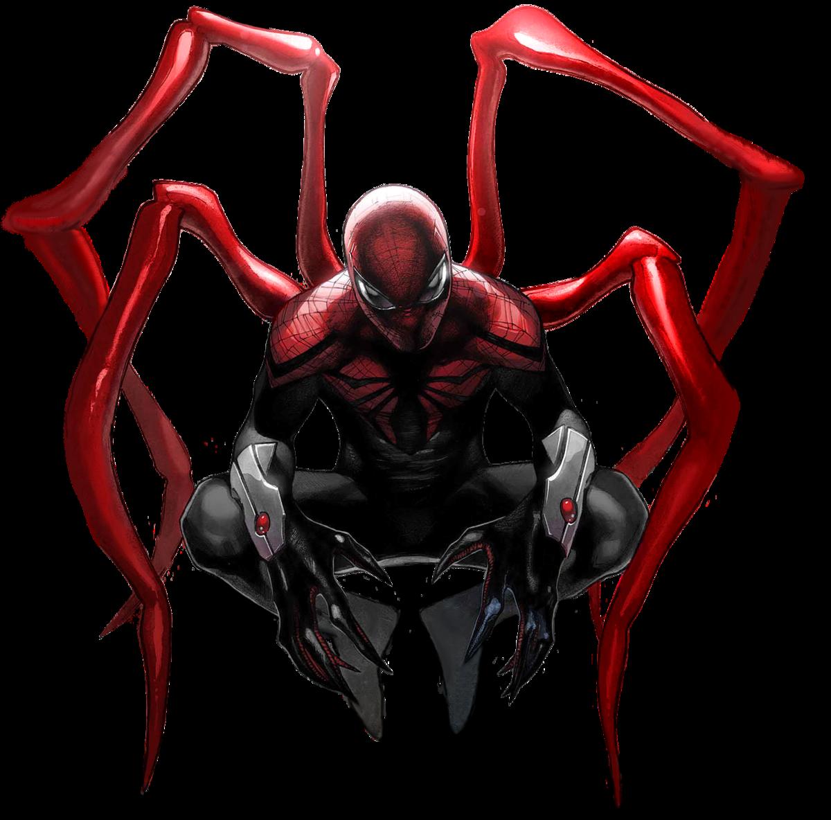 Белый человек паук картинка