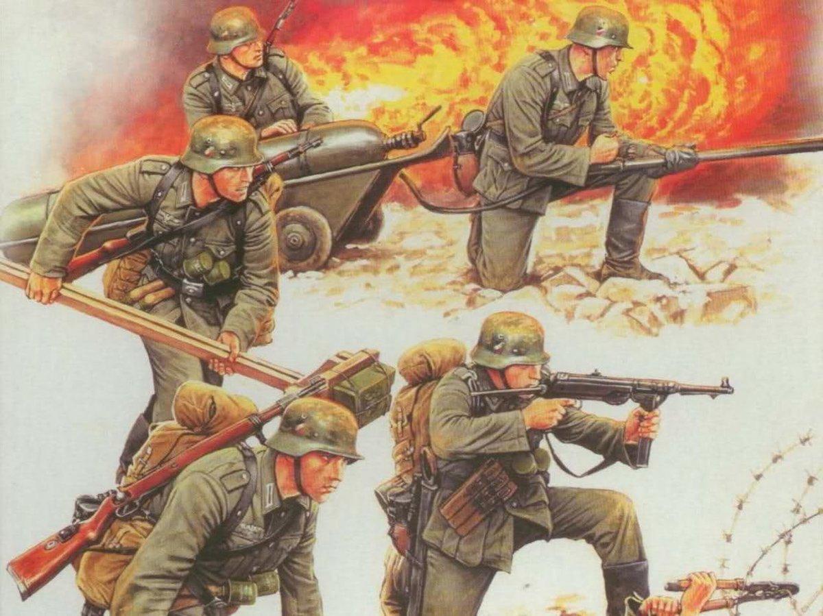 Рисунок с войной с немцами