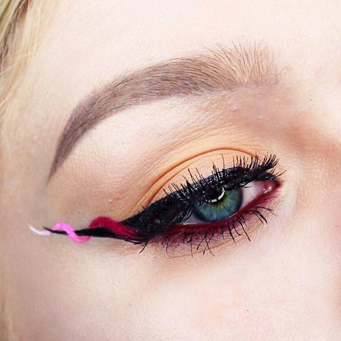стрелки цветные макияж фото болезнь тяжело, быстро