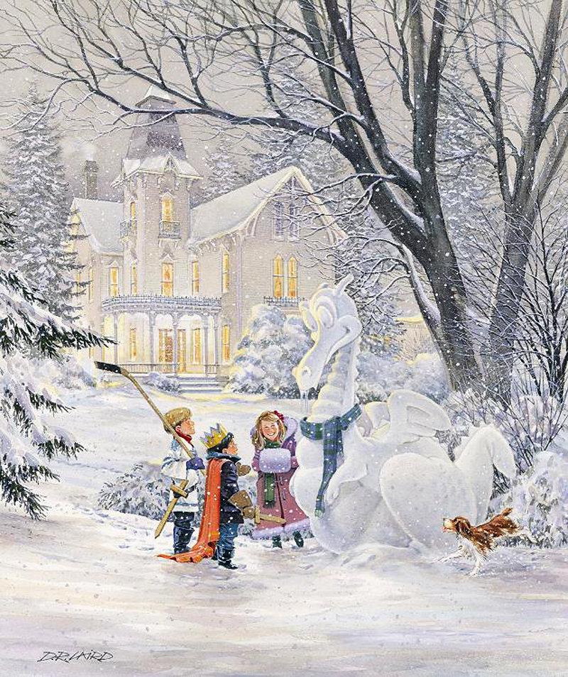 Рождественские картинки детские забавы