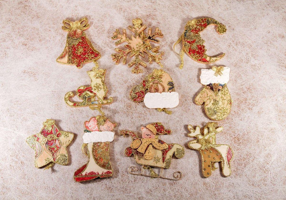 Новогодние деревянные игрушки на елку фото