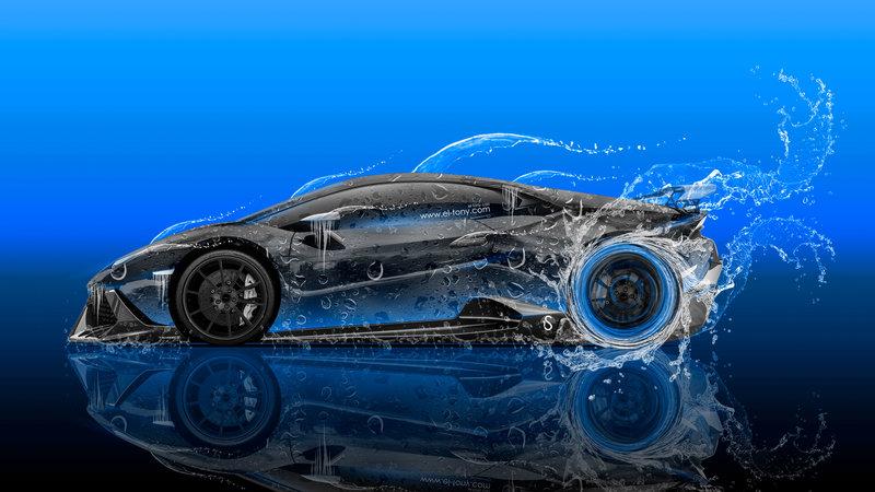 Lamborghini Huracan Mansory Tuning Side Super Water Car