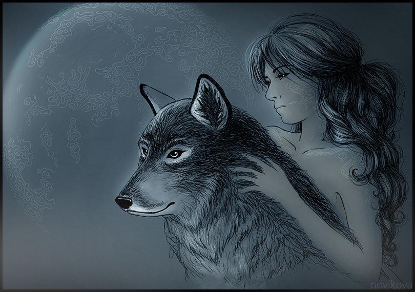 Девочка волк картинки