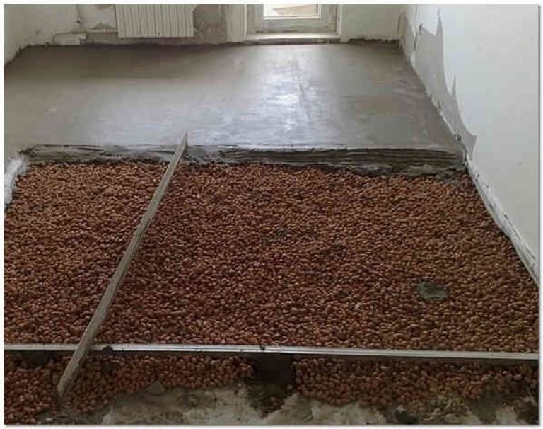 бетонная стяжка на керамзит