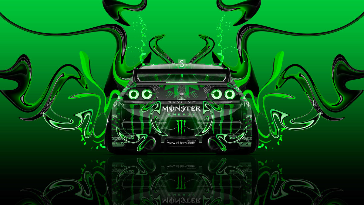 Monster Energy Nissan Skyline GTR R33 JDM Tuning