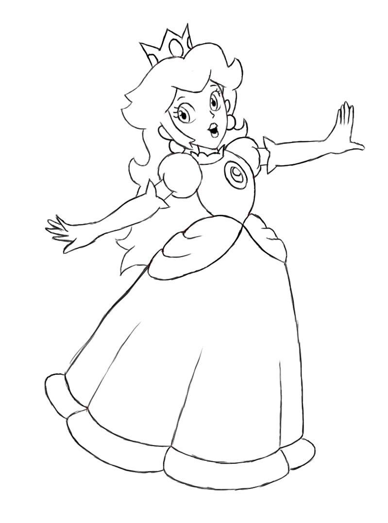 Ausmalbilder Prinzessin Peach Malvorlagen Kostenlos Zum Summer
