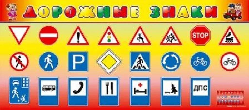 Знаки пдд в картинках для детей для детского сада