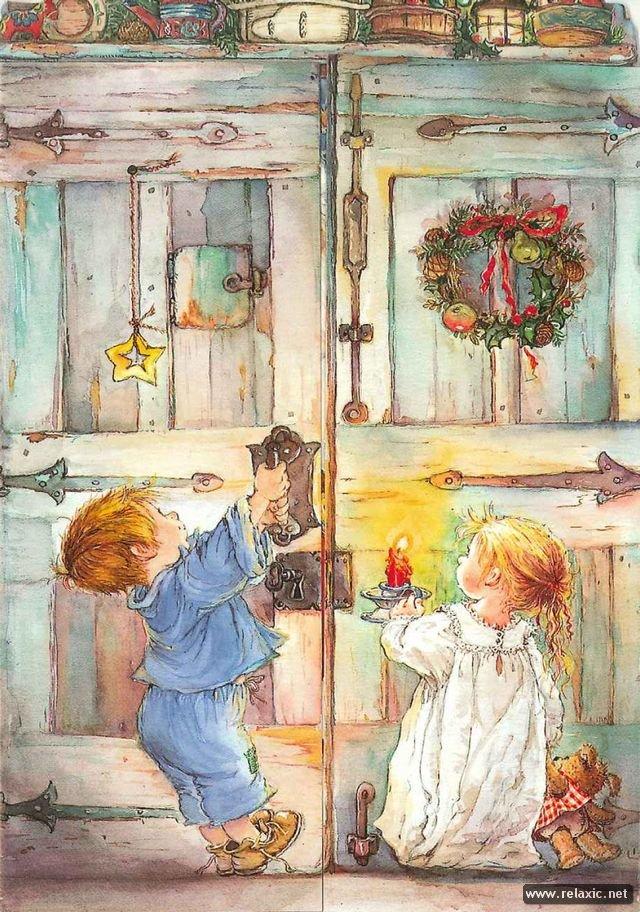 Иллюстрации дети в открытках, картинках летием