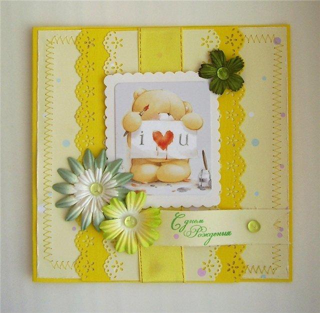 Скрапбукинг открытки для друзей